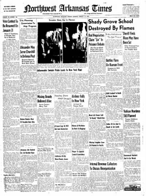 Northwest Arkansas Times from Fayetteville, Arkansas on January 14, 1952 · Page 1