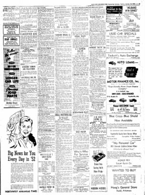 Northwest Arkansas Times from Fayetteville, Arkansas on January 15, 1952 · Page 9