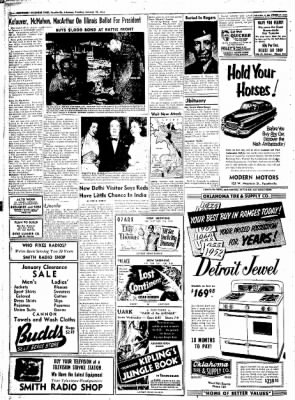 Northwest Arkansas Times from Fayetteville, Arkansas on January 22, 1952 · Page 12