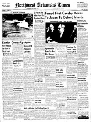 Northwest Arkansas Times from Fayetteville, Arkansas on January 23, 1952 · Page 1