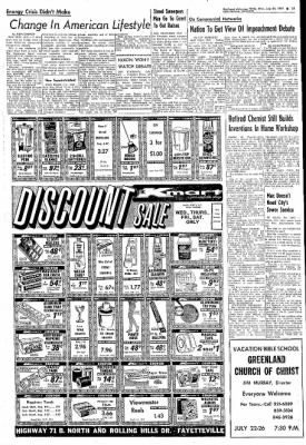 Northwest Arkansas Times from Fayetteville, Arkansas on July 24, 1974 · Page 21