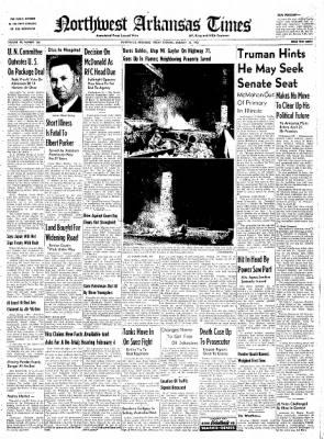 Northwest Arkansas Times from Fayetteville, Arkansas on January 25, 1952 · Page 1
