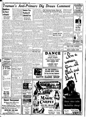 Northwest Arkansas Times from Fayetteville, Arkansas on February 1, 1952 · Page 10