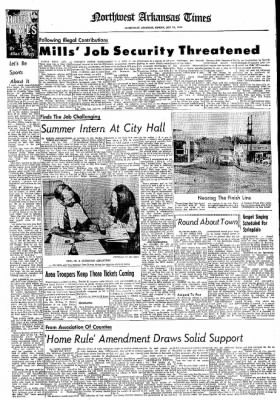 Northwest Arkansas Times from Fayetteville, Arkansas on July 28, 1974 · Page 19