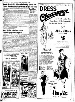 Northwest Arkansas Times from Fayetteville, Arkansas on February 6, 1952 · Page 20