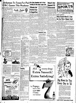 Northwest Arkansas Times from Fayetteville, Arkansas on February 7, 1952 · Page 16