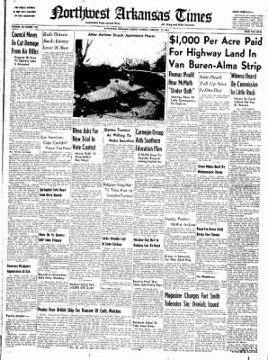 Northwest Arkansas Times from Fayetteville, Arkansas on February 12, 1952 · Page 1