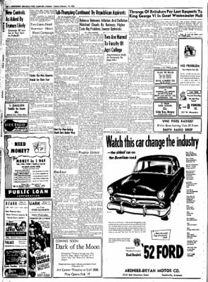 Northwest Arkansas Times from Fayetteville, Arkansas on February 12, 1952 · Page 10
