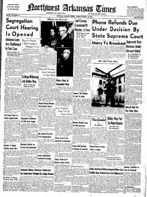 Northwest Arkansas Times from Fayetteville, Arkansas on February 18, 1952 · Page 1