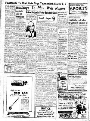 Northwest Arkansas Times from Fayetteville, Arkansas on February 18, 1952 · Page 7