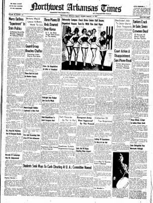 Northwest Arkansas Times from Fayetteville, Arkansas on February 19, 1952 · Page 1