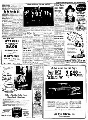 Northwest Arkansas Times from Fayetteville, Arkansas on February 19, 1952 · Page 7