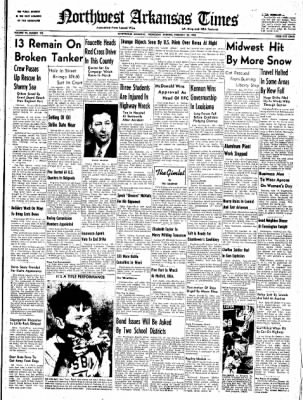 Northwest Arkansas Times from Fayetteville, Arkansas on February 20, 1952 · Page 1