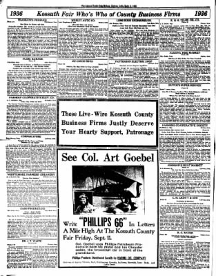 The Algona Upper Des Moines from Algona, Iowa on September 8, 1936 · Page 8