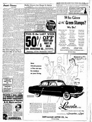 Northwest Arkansas Times from Fayetteville, Arkansas on February 20, 1952 · Page 5