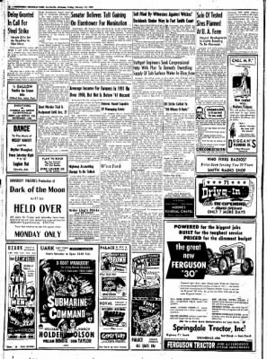 Northwest Arkansas Times from Fayetteville, Arkansas on February 22, 1952 · Page 8