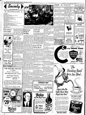 Northwest Arkansas Times from Fayetteville, Arkansas on February 26, 1952 · Page 2
