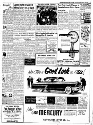 Northwest Arkansas Times from Fayetteville, Arkansas on February 26, 1952 · Page 3