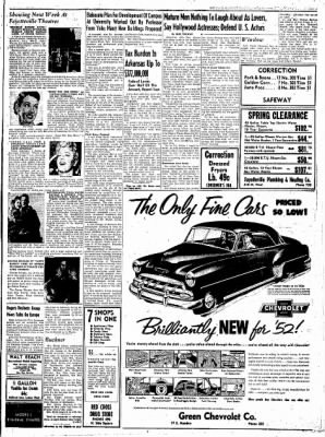 Northwest Arkansas Times from Fayetteville, Arkansas on February 29, 1952 · Page 3