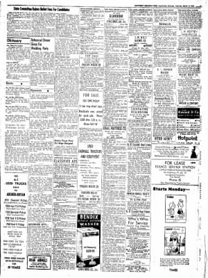 Northwest Arkansas Times from Fayetteville, Arkansas on March 8, 1952 · Page 9