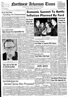 Northwest Arkansas Times from Fayetteville, Arkansas on August 13, 1974 · Page 1