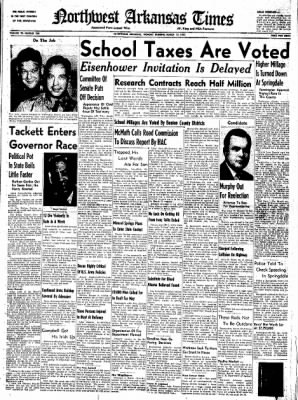 Northwest Arkansas Times from Fayetteville, Arkansas on March 17, 1952 · Page 1