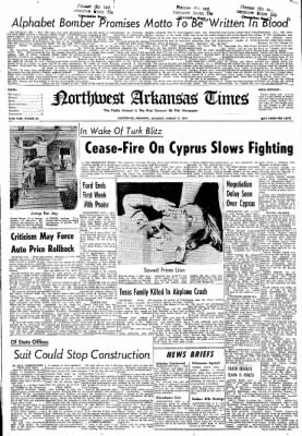 Northwest Arkansas Times from Fayetteville, Arkansas on August 17, 1974 · Page 13