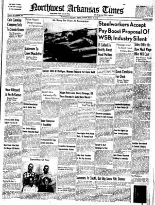 Northwest Arkansas Times from Fayetteville, Arkansas on March 21, 1952 · Page 1