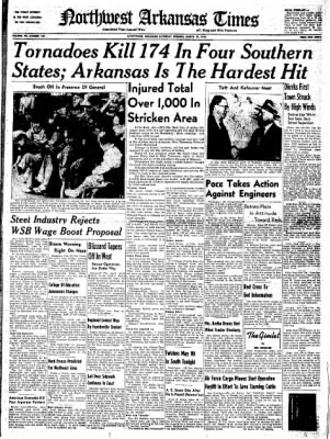 Northwest Arkansas Times from Fayetteville, Arkansas on March 22, 1952 · Page 1