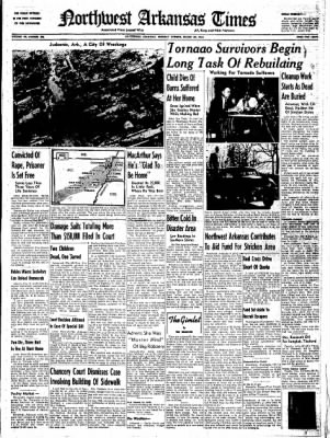 Northwest Arkansas Times from Fayetteville, Arkansas on March 24, 1952 · Page 1