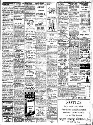 Northwest Arkansas Times from Fayetteville, Arkansas on March 24, 1952 · Page 9