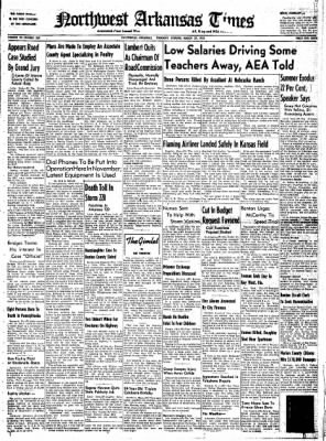 Northwest Arkansas Times from Fayetteville, Arkansas on March 27, 1952 · Page 1