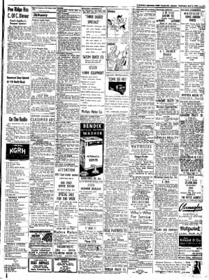 Northwest Arkansas Times from Fayetteville, Arkansas on April 2, 1952 · Page 9
