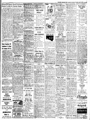 Northwest Arkansas Times from Fayetteville, Arkansas on April 3, 1952 · Page 15