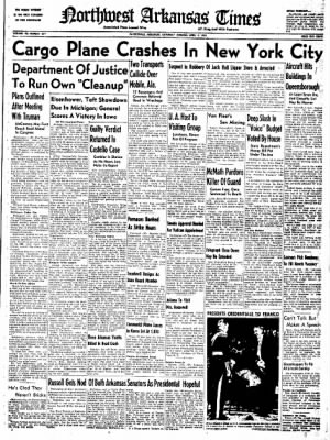 Northwest Arkansas Times from Fayetteville, Arkansas on April 5, 1952 · Page 1