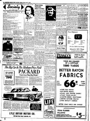 Northwest Arkansas Times from Fayetteville, Arkansas on April 7, 1952 · Page 2