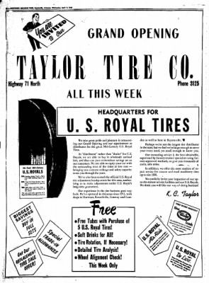 Northwest Arkansas Times from Fayetteville, Arkansas on April 9, 1952 · Page 6