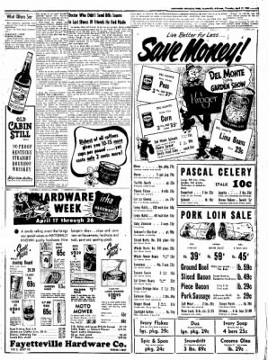 Northwest Arkansas Times from Fayetteville, Arkansas on April 17, 1952 · Page 9