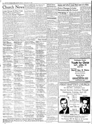 Northwest Arkansas Times from Fayetteville, Arkansas on April 19, 1952 · Page 2
