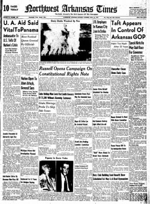Northwest Arkansas Times from Fayetteville, Arkansas on April 26, 1952 · Page 1