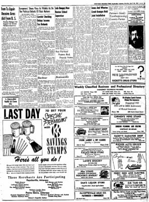 Northwest Arkansas Times from Fayetteville, Arkansas on April 26, 1952 · Page 5