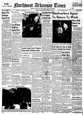 Northwest Arkansas Times from Fayetteville, Arkansas on May 2, 1952 · Page 1