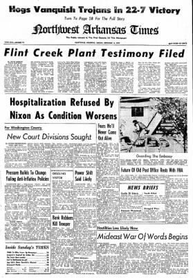 Northwest Arkansas Times from Fayetteville, Arkansas on September 15, 1974 · Page 1
