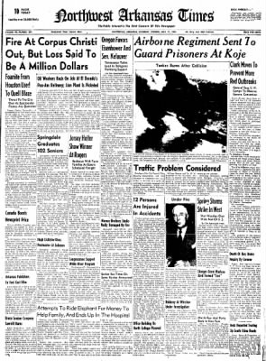 Northwest Arkansas Times from Fayetteville, Arkansas on May 17, 1952 · Page 1
