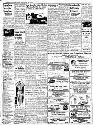 Northwest Arkansas Times from Fayetteville, Arkansas on May 17, 1952 · Page 6