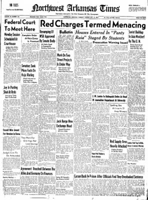 Northwest Arkansas Times from Fayetteville, Arkansas on May 22, 1952 · Page 1