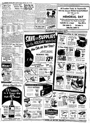 Northwest Arkansas Times from Fayetteville, Arkansas on May 28, 1952 · Page 6