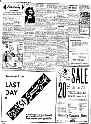 Northwest Arkansas Times from Fayetteville, Arkansas on May 30, 1952 · Page 2