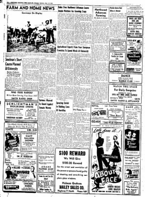 Northwest Arkansas Times from Fayetteville, Arkansas on May 31, 1952 · Page 10