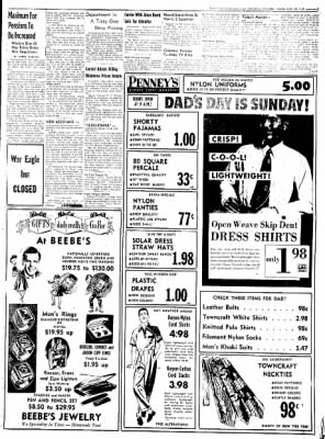 Northwest Arkansas Times from Fayetteville, Arkansas on June 10, 1952 · Page 3